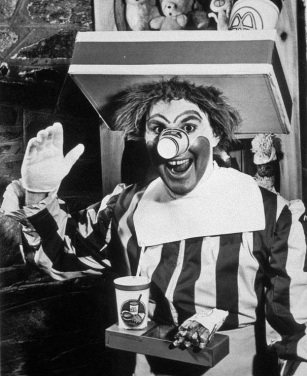 One of the first Ronald Mcdonald's scary clowns