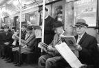 Business men on a train